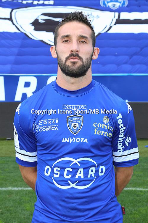 Julien PALMIERI - 09.10.2013 - Photo officielle Bastia 2013/2014 - Ligue 1<br /> Photo : Icon Sport
