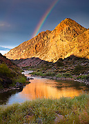 The Rio Grande river near Pilar, New Mexico.