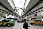 Expressway going over the Nihonbashi Bridge at Kilometer zero Tokyo Japan