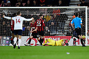 Goal - Naby Keïta (8) of Liverpool scores a goal to give a 0-2 lead beating Aaron Ramsdale (12) of AFC Bournemouth during the Premier League match between Bournemouth and Liverpool at the Vitality Stadium, Bournemouth, England on 7 December 2019.