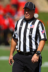 17 September 2016:  LINE JUDGE<br /> Kris Van Meter.  NCAA FCS Football game between Eastern Illinois Panthers and Illinois State Redbirds for the 105th Mid-America Classic on Family Dat at Hancock Stadium in Normal IL (Photo by Alan Look)