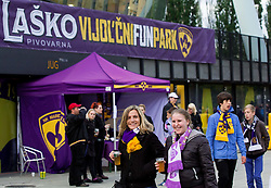 Fans of Maribor prior to the football match between NK Maribor and ND Triglav in 34th Round of Prva liga Telekom Slovenije 2013/14, on May 13, 2014 in Stadium Ljudski vrt, Maribor, Slovenia. NK Maribor became Slovenian National Champion 2014. Photo by Vid Ponikvar / Sportida