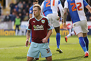 Burnley midfielder Scott Arfield  contemplates his miss  during the Sky Bet Championship match between Burnley and Blackburn Rovers at Turf Moor, Burnley, England on 5 March 2016. Photo by Simon Davies.
