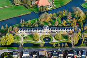 Nederland, Friesland, Gemeente Heerenveen, 04-11-2018; Akkrum met Coopersburg, tehuis voor arme ouderen.<br /> Akkrum village, home for elderly people.<br /> luchtfoto (toeslag op standaard tarieven);<br /> aerial photo (additional fee required);<br /> copyright &copy; foto/photo Siebe Swart