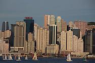 Hong Kong Harbour and Hong Kong Island from Kowloon.