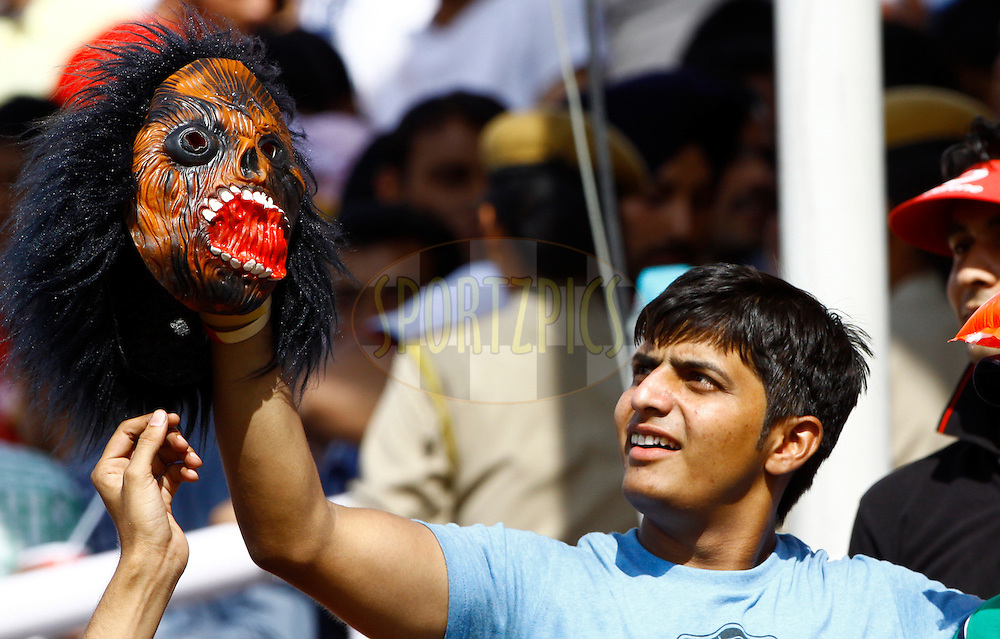 Delhi Daredevils supportors during match 69 of the the Indian Premier League ( IPL) 2012  between The Kings X1 Punjab and The Delhi Daredevils held at the HPCA Stadium, Dharamsala, on the 19th May 2012..Photo by Pankaj Nangia/IPL/SPORTZPICS