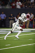 Miami Dolphins running back Senorise Perry (34) in action during the NFL week 8 regular season football game against the Houston Texans on Thursday, Oct. 25, 2018 in Houston. The Texans won the game 42-23. (©Paul Anthony Spinelli)