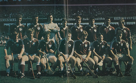 All Ireland Senior Hurling Championship - Final,.Galway v Offaly, .06.09.1981, 09.06.1981, 6th September 1981,.Offaly 2-12, Galway 0-15,.06091981AISHCF,..MIchael Connolly, John Connolly, Michael Conneely, Iggy Clarke, Noel Lane, Steve Mahon, Joe Connolly, Finbarr Gantly, Front row, Bernie Forde, Niall McInerney, Jimmy Cooney, Sean Silke captain, Sylvie Linnane, P J Molloy, Seamus Coen,