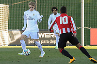 Real Madrid Castilla´s Martin Odegaard and Athletic Club B's Bengoa during 2014-15 Spanish Second Division match between Real Madrid Castilla and Athletic Club B at Alfredo Di Stefano stadium in Madrid, Spain. February 08, 2015. (ALTERPHOTOS/Luis Fernandez)