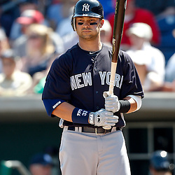 February 27, 2011; Clearwater, FL, USA; New York Yankees outfielder Nick Swisher (33) during a spring training exhibition game at  Bright House Networks Field. Mandatory Credit: Derick E. Hingle