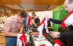 28.01.2014,  Marriott, Wien, AUT, Sochi 2014, Einkleidung OeOC, im Bild Rafael Rotter (Eishockey, AUT) // Rafael Rotter (Icehockey, AUT) during the outfitting of the Austrian National Olympic Committee for Sochi 2014 at the  Marriott in Vienna, Austria on 2014/01/28. EXPA Pictures © 2014, PhotoCredit: EXPA/ JFK