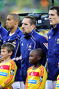 Franck Ribery lines up before the 2010 World Cup Soccer match between South Africa and France played at the Freestate Stadium in Bloemfontein South Africa on 22 June 2010.
