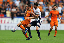 Diogo Jota of Wolverhampton Wanderers and Will Buckley of Bolton Wanderers - Mandatory by-line: Matt McNulty/JMP - 21/04/2018 - FOOTBALL - Macron Stadium - Bolton, England - Bolton Wanderers v Wolverhampton Wanderers - Sky Bet Championship
