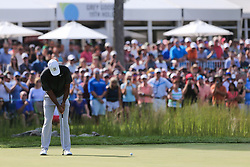 September 2, 2018 - Norton, Massachusetts, United States - Tiger Woods putts the 16th green during the third round of the Dell Technologies Championship. (Credit Image: © Debby Wong/ZUMA Wire)