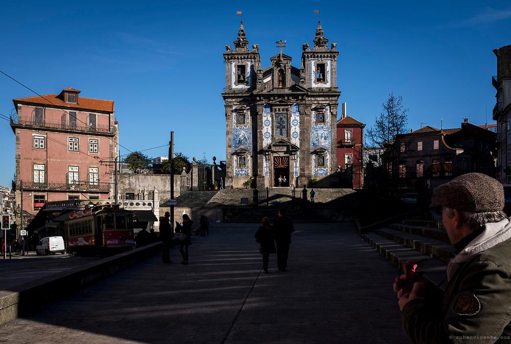 Santo Ildefonso tiled church. Porto, Portugal