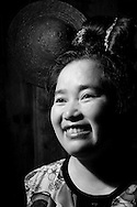 Kaili, Guizhou, China, August 10th 2007: Portrait of a 36 year old Miao woman..Photo: Joseph Feil