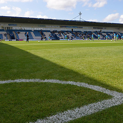 TELFORD COPYRIGHT MIKE SHERIDAN A general view of the New Bucks Head Stadium during the National League North fixture between AFC Telford United and Kings Lynn Town at the Bucks Head on Tuesday, August 13, 2019<br /> <br /> Picture credit: Mike Sheridan<br /> <br /> MS201920-009