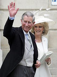 The Prince of Wales, and The Duchess of Cornwall leave.