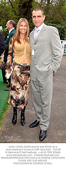 Actor VINNIE JONES and his wife TANYA at a race meeting in Surrey on 25th April 2003.			PJD 89
