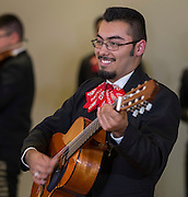 Members of the High School for the Performing and Visual Arts Mariachi Los Pasajeros perform for Fine arts Friday at the Hattie Mae White Educational Service Center, October 7, 2016.