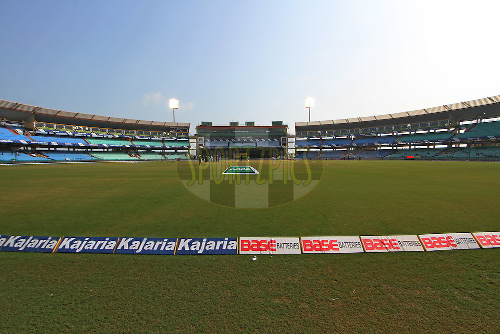 General View of the Chhattisgarh International Cricket Stadium during the qualifier 5 match of the Oppo Champions League Twenty20 between the Southern Express and the Lahore Lions held at the Chhattisgarh International Cricket Stadium, Raipur, India on the 16th September 2014<br /> <br /> Photo by:  Deepak Malik / Sportzpics/ CLT20<br /> <br /> <br /> Image use is subject to the terms and conditions as laid out by the BCCI/ CLT20.  The terms and conditions can be downloaded here:<br /> <br /> http://sportzpics.photoshelter.com/gallery/CLT20-Image-Terms-and-Conditions-2014/G0000IfNJn535VPU/C0000QhhKadWcjYs