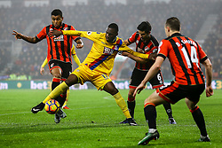 Christian Benteke of Crystal Palace holds back Andrew Surman of Bournemouth off the ball - Mandatory by-line: Jason Brown/JMP - 31/01/2017 - FOOTBALL - Vitality Stadium - Bournemouth, England - Bournemouth v Crystal Palace - Premier League