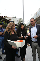 October 5, 2018 - in the picture: Family Francesco della Corte in autority yhe Naples..This morning the city's highest authorities together with relatives and local schools found themselves in the Piscinola subway square to remember Francesco della Corte, the security guard who was barbarously killed by a baby gang. (Credit Image: © Fabio Sasso/ZUMA Wire)