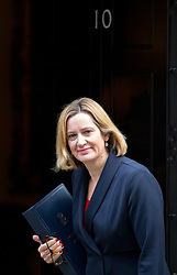 © Licensed to London News Pictures. 17/10/2017. London, UK. Home Secretary Amber Rudd for Exiting the European Union David Davis arriving in Downing Street to attend a Cabinet meeting this morning. Photo credit : Tom Nicholson/LNP