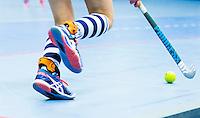 ROTTERDAM - NK Zaalhockey. Hurley-HDM dames om de 3e plaats.  EXO-L voor stabiele enkels.  COPYRIGHT KOEN SUYK
