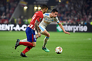Forward Florian Thauvin of Olympique de Marseille and defender Lucas Hernandez of Atletico de Madrid during the UEFA Europa League, Final football match between Olympique de Marseille and Atletico de Madrid on May 16, 2018 at Groupama Stadium in Decines-Charpieu near Lyon, France - Photo Jean-Marie Hervio / ProSportsImages / DPPI