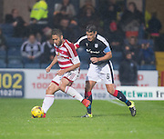 Hamilton&rsquo;s Alexandre D'Acol and Dundee&rsquo;s Darren O&rsquo;Dea - Dundee v Hamilton Academical in the Ladbrokes Scottish Premiership at Dens Park<br /> <br />  - &copy; David Young - www.davidyoungphoto.co.uk - email: davidyoungphoto@gmail.com
