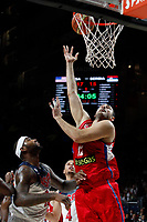 United States´s Cousins (L) and Serbia´s Krstic during FIBA Basketball World Cup Spain 2014 final match between United States and Serbia at `Palacio de los deportes´ stadium in Madrid, Spain. September 14, 2014. (ALTERPHOTOSVictor Blanco)