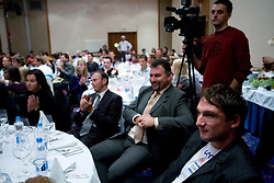 Vladimir Kevo and Primoz Kozmus (R) at Best Slovenian athlete of the year ceremony, on November 15, 2008 in Hotel Lev, Ljubljana, Slovenia. (Photo by Vid Ponikvar / Sportida)