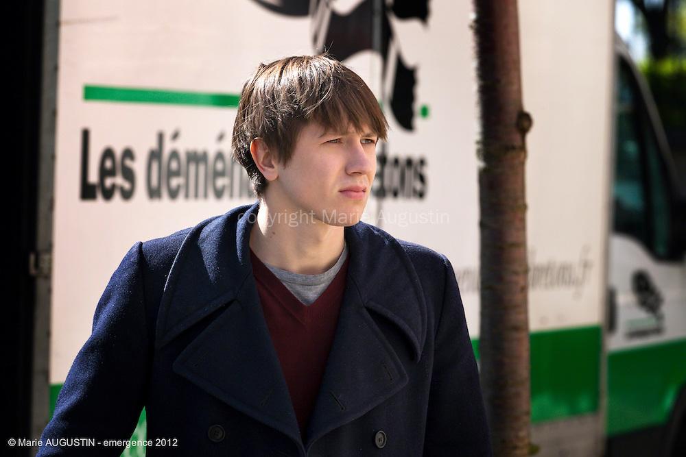 """Bastien BOUILLON - tournage scène libre """"Paris-Brest"""" de Benoît BOURREAU - emergence 2012"""