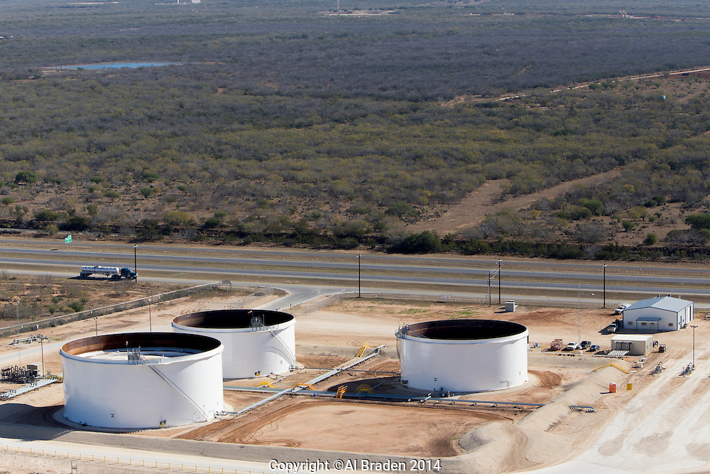 NuStar pipeline offloading tanks near Cotulla, TX