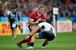 John Moonlight of Canada faces off against Florin Surugiu of Romania - Mandatory byline: Patrick Khachfe/JMP - 07966 386802 - 06/10/2015 - RUGBY UNION - Leicester City Stadium - Leicester, England - Canada v Romania - Rugby World Cup 2015 Pool D.