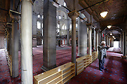 inside the Eyup Sultan Camii in Istanbul