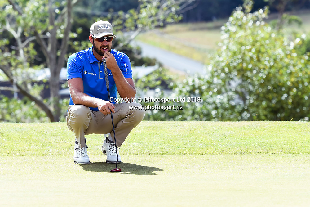 Daniel Pearce (NZL)<br /> NZ Rebel Sports Masters, Wainui Golf Club, Wainui, Auckland, New Zealand. 14 January 2018. &copy; Copyright Image: Marc Shannon / www.photosport.nz.