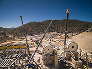 The San Julian Project, Chihuahua, México. Beneficiation plant construction.