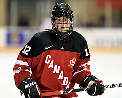Tye Felhaber of the Saginaw Spirit represented Team Canada Red at the World Under-17 Hockey Challenge in Sarnia and Lambton, ON November 2-8, 2014. Photo by Aaron Bell/CHL Images
