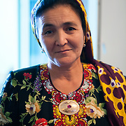 Local woman at a wedding, Ashgabat, Turkmenistan
