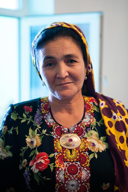 Local woman at a wedding, Ashgabat, Turkmenistan
