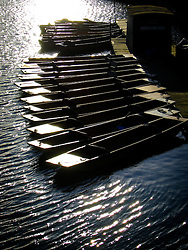 UK ENGLAND OXFORD 3SEP06 - Punting boats on the Thames in Oxford, England...jre/Photo by Jiri Rezac..© Jiri Rezac 2006..Contact: +44 (0) 7050 110 417.Mobile:  +44 (0) 7801 337 683.Office:  +44 (0) 20 8968 9635..Email:   jiri@jirirezac.com.Web:    www.jirirezac.com..© All images Jiri Rezac 2006 - All rights reserved.