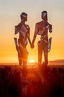 BROKEN BUT TOGETHER by Michael Benisty<br /> MIRROR POLISHED STAINLESS STEEL<br /> <br /> 21 X 12 X 10 FT<br /> <br /> 6.5 X 3.6 X 3 M<br /> <br /> 2019<br /> <br /> https://www.michaelbenisty.com