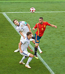 MOSCOW, RUSSIA - Sunday, July 1, 2018: Spain's Jorge Resurrección Merodio 'Koke' during the FIFA World Cup Russia 2018 Round of 16 match between Spain and Russia at the Luzhniki Stadium. (Pic by David Rawcliffe/Propaganda)