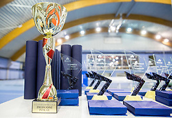 Trophies at Slovenian Tennis personality of the year 2014 annual awards presented by Slovene Tennis Association TZS , on December 6, 2014 in Millenium Centre, BTC, Ljubljana, Slovenia. Photo by Vid Ponikvar / Sportida