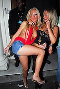 10.APRIL.2007. LONDON<br /> <br /> A VERY DRUNK AISLEYNE LEAVING FUNKY BUDDAH NIGHT CLUB AT 3.00AM WITH A MALE FRIEND AND DECIDES TO GET HER BOOBS OUT AS WELL AS GIVING LAUREN POPE A HUG WITH ONE OF HER BOOBS HANGING OUT, THEN TWO RANDOM GUYS PICKED HER UP AND PULLED HER BOOBS OUT!!!!!.<br /> <br /> BYLINE: EDBIMAGEARCHIVE.CO.UK<br /> <br /> *THIS IMAGE IS STRICTLY FOR UK NEWSPAPERS AND MAGAZINES ONLY*<br /> *FOR WORLD WIDE SALES AND WEB USE PLEASE CONTACT EDBIMAGEARCHIVE - 0208 954 5968*