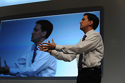 © Licensed to London News Pictures. 28/09/2011. LONDON, UK. Ed Miliband, the Leader of the Labour Party holds a question and answer session with delegates and members of the public at The Labour Party Conference in Liverpool today (28/09/11). Photo credit:  Stephen Simpson/LNP