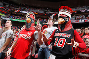 LOUISVILLE, KY - DECEMBER 29: Louisville Cardinals fans get ready for the game against the Kentucky Wildcats at the KFC Yum! Center in Louisville, Kentucky. Louisville won 80-77. (Photo by Joe Robbins)