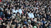 Twickenham, GREAT BRITAIN,    England coaching team,  [in white]. left to right, Graham ROWNTREE, Head Coach, Stuart LANCASTER and Andy FARRELL, during the National Anthems,  QBE. Autumn International;  England vs New Zealand, Rugby match.  Autumn, International Test Series.  RFU. Twickenham Stadium, Surrey.  Saturday  01/12/2012..[Mandatory Credit; Peter Spurrier/Intersport-images]